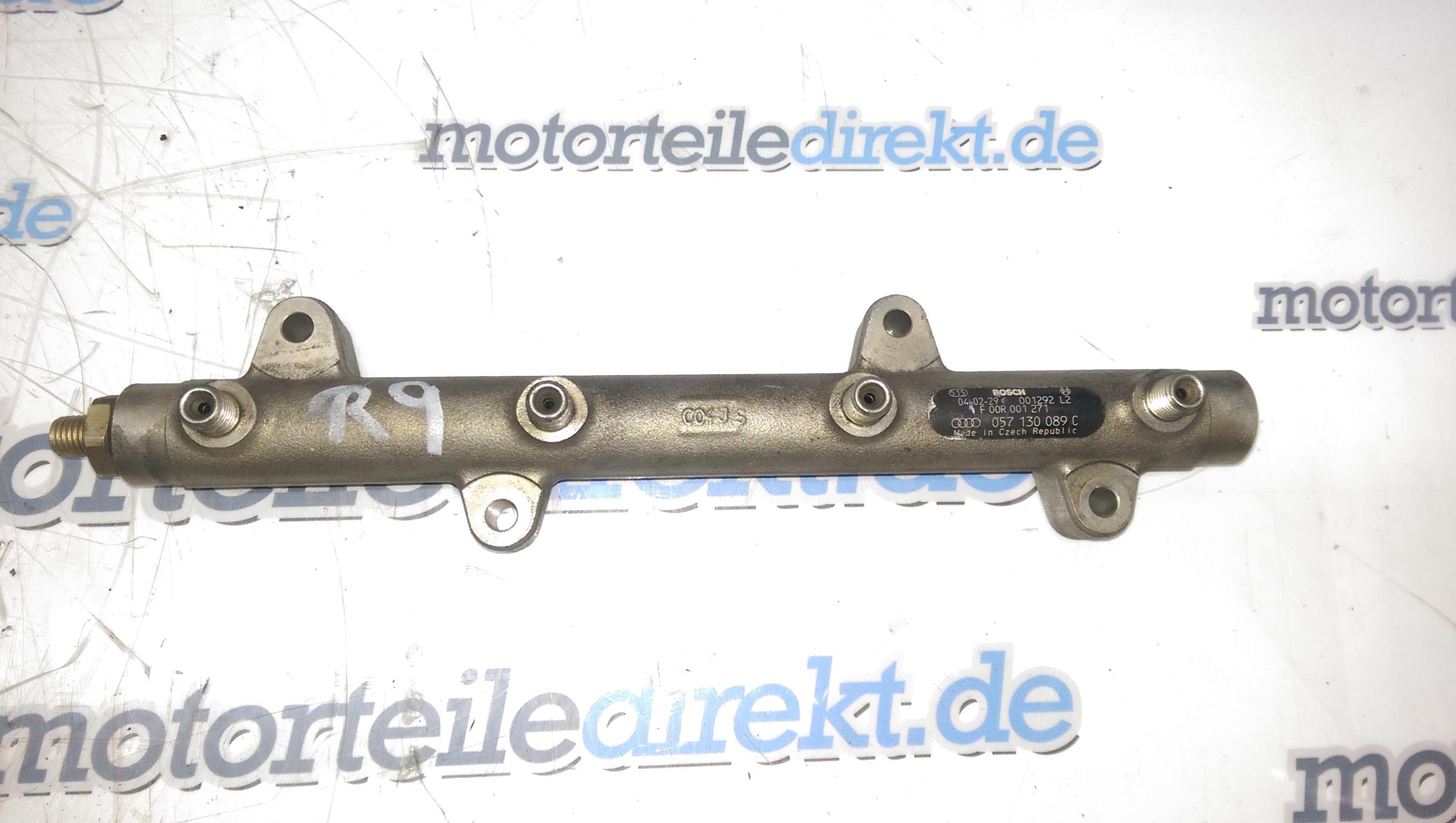 Rail Rohr Einspritzleiste Audi A8 4E 4,0 TDI Quattro 057130089C ASE 275 PS