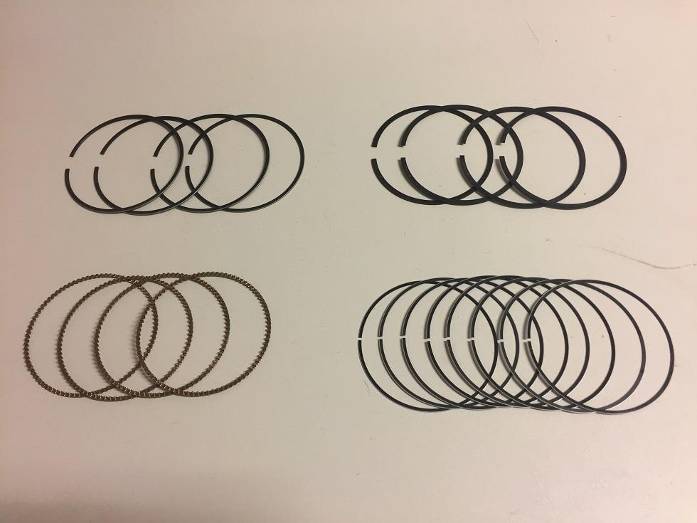 4x Kolbenringe Satz Ring Mazda GH 2,0 16V AODB LF LF17 LF18 NEU